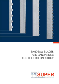 Bandsaw blades and band knives for the food industry